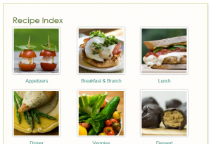 Image Index for Recipes or Photos
