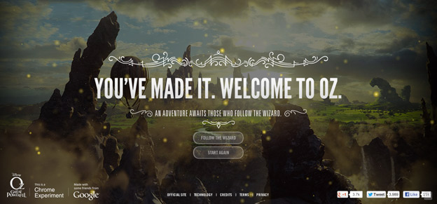 tell a story with web design