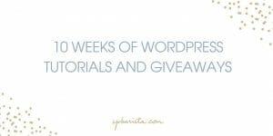 10 Weeks of Resources & Giveaways