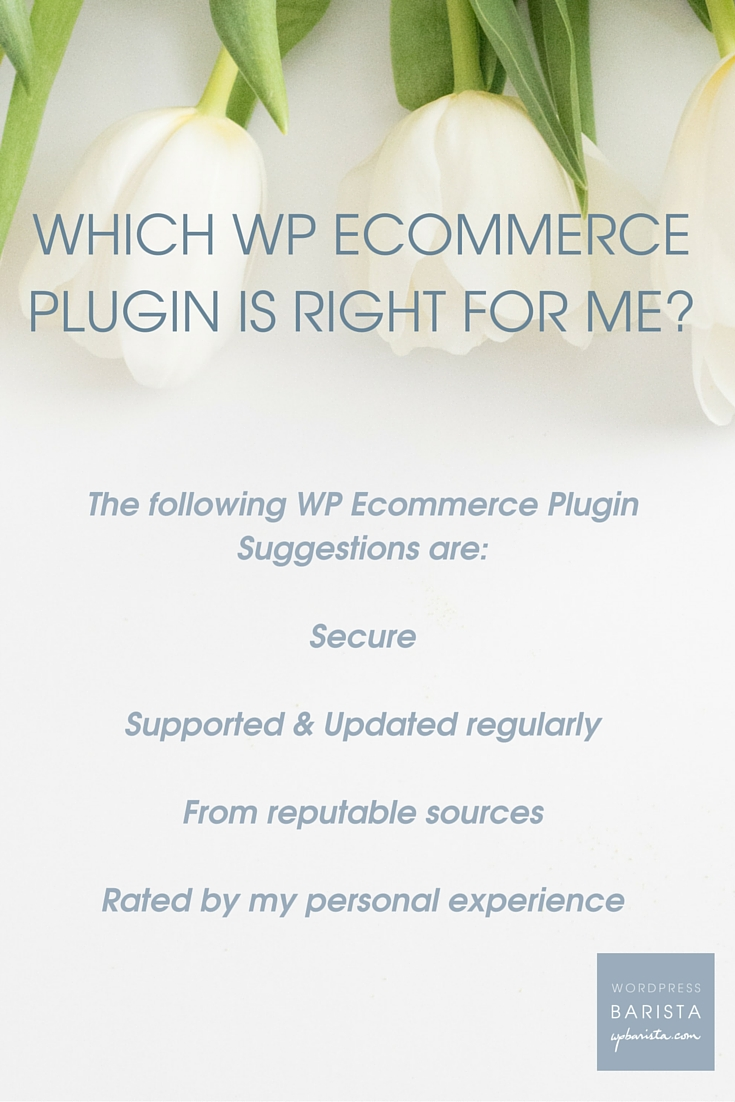 How does a new shop owner select her WordPress Ecommerce plugin? In our experience, one of these three will do the trick nicely.
