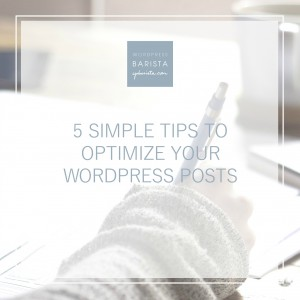 Start Optimizing Your Posts with these Easy 5 Tips