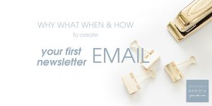 First Email Newsletter – Why When What & How