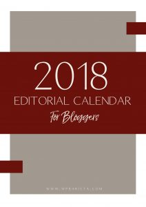 2018 Free Printable Blog Content Strategy & Planner