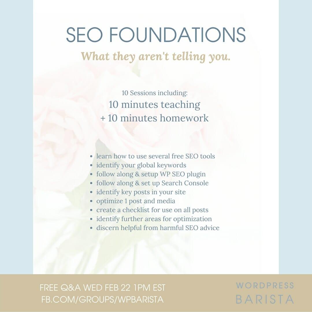 Seo Foundations Ig Ad 2 Wordpress Barista