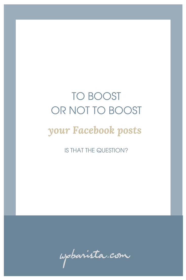 We answer the question today: Should bloggers boost their posts on Facebook? or use Ads instead?