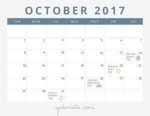 New! Free Calendar for October