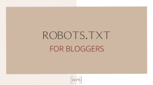 Robots.txt for Bloggers using WordPress
